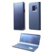 Samsung Galaxy S9 (кожен калъф) 'Plastic - Touch style' (светло син)