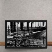 Quadro Decorativo Bicicletas na Rua 25x35