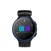 KQHSM Impermeable de múltiples Funciones de la Pantalla del podómetro Pulsera Redonda Reloj Smart Watch (Color : C)