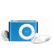 Erry Mini MP3 Shuffle Metal Series MP3 PLAYER With Ear Phones and Data Cable MP3 Player (Blue)
