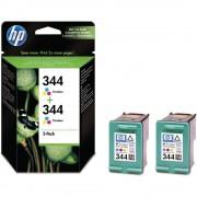 CARTUS HP C9505 2 CARTUSE C9363 NO344 COLOR 2X14ML Cartus HP OEM C9505EE, color