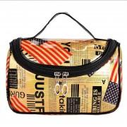 Fashion Portable Cosmetics Bag PVC Print Storage Box Mini Hand Bag