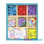 Bead Bazaar Mini gyöngykészlet fa dobozban - vízi kaland