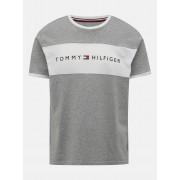 Tommy Hilfiger grigio da uomo maglietta CN SS Tee Logo Flag - M