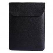 ENKAY verticale doorsnede ultralichte ultra-dunne PU leder Liner Bag Computer tas beschermende lederen Case voor MacBook 12-inch (zwart)