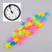 ELECTROPRIME New Beautiful 36Pcs Colorful Colored Multi-Color Bike Spoke Stars Beads