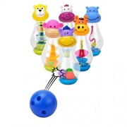Kids Cute Animals Bowling Set-Happytime ZY1219 Bowling Sport Game Toy Set Cute Animal Friends With Carrying Box for 3+ Years Old Kids