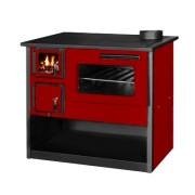 Готварска печка на твърдо гориво Diplomat Огняна, Червена, Фурна, 14 W