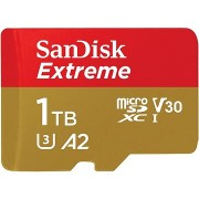 SanDisk MicroSDXC 1TB Extreme A2 UHS-I (V30) U3 + SD adapter