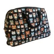 Bagoly mintás színes gurulós bőrönd Allecra