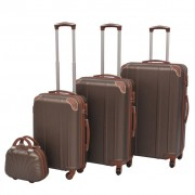 "vidaXL ""vidaXL Zestaw walizek na kółkach w kolorze kawy, 4 szt."""