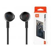 Słuchawki przewodowe douszne JBL by Harman T205 mikrofon czarno-srebrne