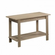 SAUDER Beginnings 35 in. Summer Oak Wood TV Stand Fits TVs Up to 37 in. with Open Storage