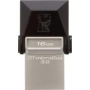 Kingston Data Traveler 3.0 MicroDuo 16 GB OTG Drive(Black, Type A to Micro USB)