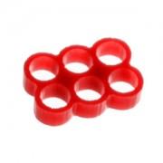 Clema E22 Stealth cu 6 sloturi pentru prinderea cablurilor, latime slot 4mm, culoare rosie