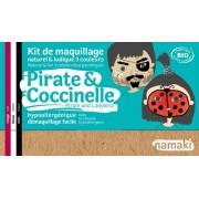 NAMAKI Kit maquillage bio 3 couleurs - Pirates et Coccinelle