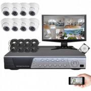 Kit vidéosurveillance 8 dômes CMOS 600 lignes