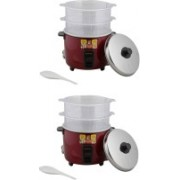 Panasonic WA22H(SS) Food Steamer Electric Rice Cooker(5.4 L, Burgundy, Pack of 2)