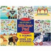 Игрален комплект стикери за многократна употреба - Приключения, 19115 Melissa and Doug, 000772191159