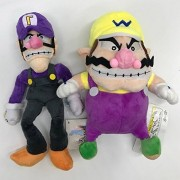 Super Mario Plush 10.8 Inch / 28cm Wario & Waluigi 2pcs Doll Stuffed Animals Figure Soft Anime Collection Toy