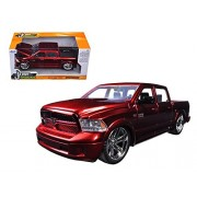 2014 Dodge Ram 1500 Pick Up Truck Red Custom Edition 1/24 by Jada 54040