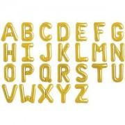 Bokstavsballonger - Guldfärgad folie - 86 cm