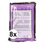 Geen 8x Holi poeder paars 100 gram