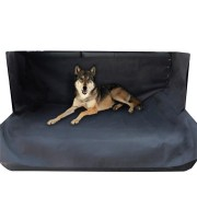 Pet Seat Cover Black Waterproof Oxford Washable Non Slip Backing Organizer Pet Mat for Cars