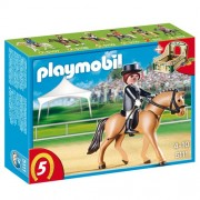 Playmobil German Sport Horse with Dressage Rider and Stable, Multi Color