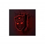 Lampara Decorativa Pared 3D Light Autobots Escudo Transformers-Plata