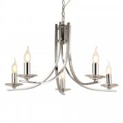[lux.pro]® Lámpara de araña - 5 Brazos - Aveiro - 157 x Ø 63 cm - Cromo - E14