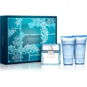 Versace Man Eau Fraîche lote de regalo XXIX. gel de ducha y baño 50 ml + bálsamo after shave 50 ml + eau de toilette 50 ml