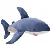 vidaXL fehér cápa kék-fehér színű plüssjáték