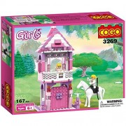 Girls Castle Creative Building Bricks Blocks Birthday Gift for Kids Age 6 with Princess and Prince Minifigures Educational Assembly Toys Play Set COGO 3269 167 Pcs