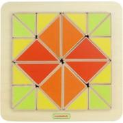 Joc creativ Mozaic de triunghiuri din lemn +18 luni Masterkidz