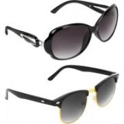 Zyaden Oval, Clubmaster Sunglasses(Black)