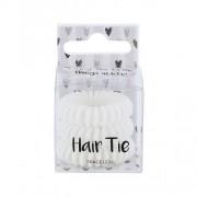 2K Hair Tie 3 ks spirálovité gumičky do vlasů pro ženy White