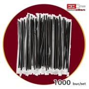 Paie flexibile negre ambalate individual 1000 buc/set