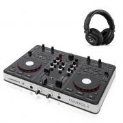 Resident DJ Kontrol 3 USB MIDI DJ Controller Sound Card with DJ Headphones