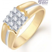 Sukkhi Gold And Rhodium Plated Cz Ring For Men(112Grk510)