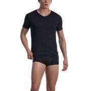 Olaf Benz RED 1601 Regular V Neck Short Sleeved T Shirt Black 1-07418/8000