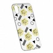 Husa Silicon Transparent Slim Yellow Rose 137 Apple iPhone X