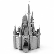 DIY Cinderella Castle Assembly Model Puzzle Toy - Plata