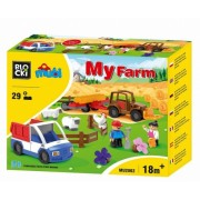Joc constructie Mubi, Ferma + camioneta, 29 piese Blocki