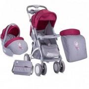 Dečija kolica Apollo Set Grey&Pink Girl