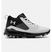 Under Armour Primary School UA Lockdown 5 Basketball Shoes White 40