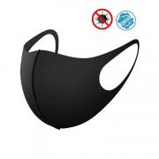 Ochranné roušku na obličej NANO černé - Elastické (97% polyester + 3%spandex)