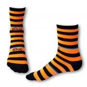 Styx Ponožky Styx crazy oranžovo černé proužky (H325) M