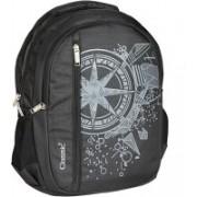 Classic Polyester School Bag |Shoulder Backpacks 32 L Laptop Backpack(Black)
