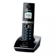 """Безжичен телефон Panasonic KX-TG8051, 1.45""""(3.68cm) TFT цветен дисплей, черен"""